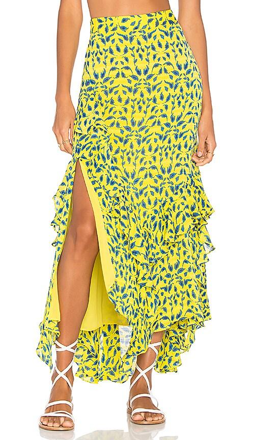 Tanya Taylor Rita Skirt in Lemon