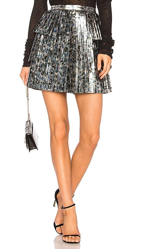 Tanya Taylor Sidra Skirt in Metallic Silver