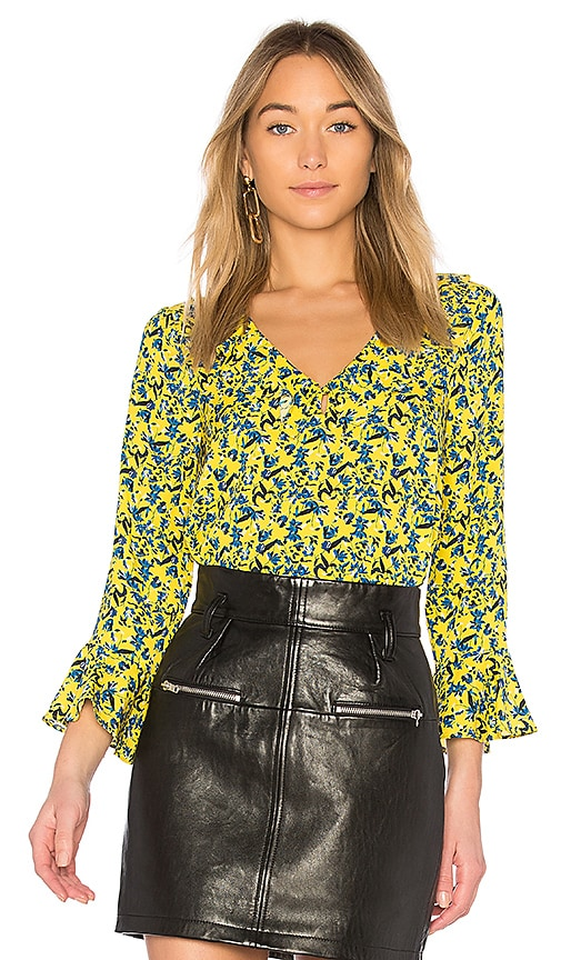 Tanya Taylor Staci Top in Yellow