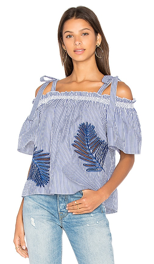 Tanya Taylor Becca Top in Blue