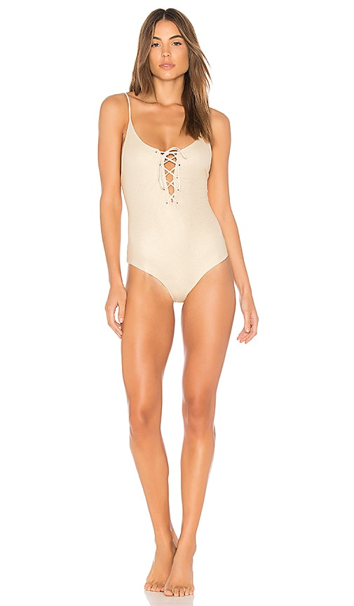 TAVIK Swimwear Monahan One Piece in Metallic Gold