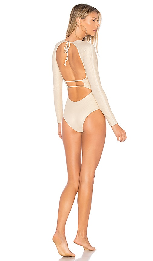 TAVIK Swimwear Moss One Piece in Metallic Gold