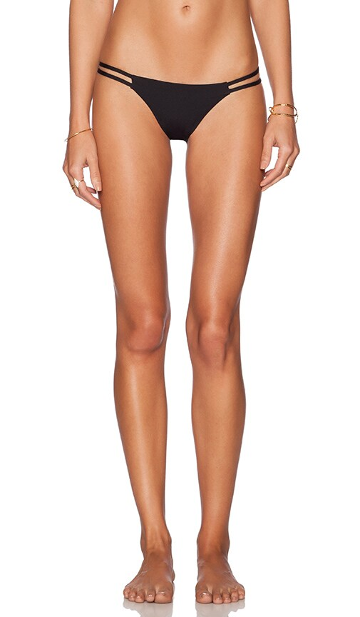 TAVIK Swimwear Vine Bikini Bottom in Jet Black