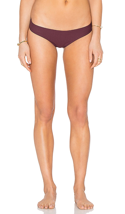 TAVIK Swimwear Ali Minimal Reversible Bikini Bottom in Burgundy