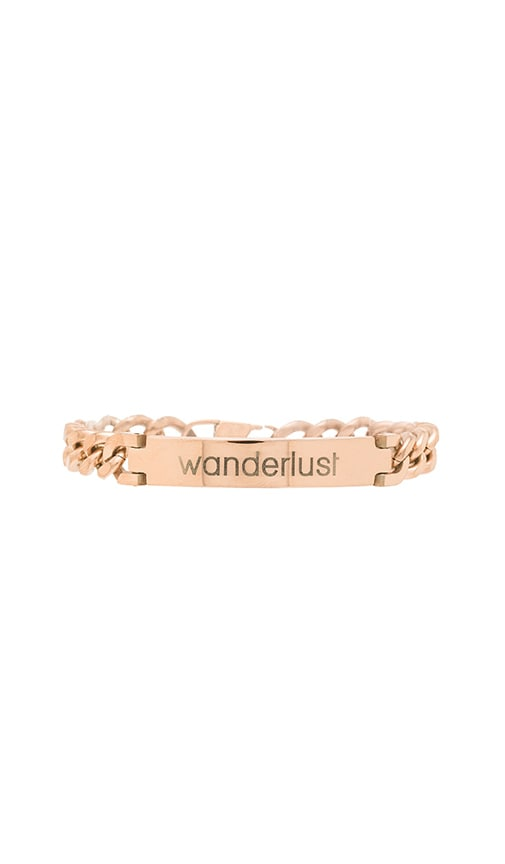 Engraved Wanderlust ID Bracelet in