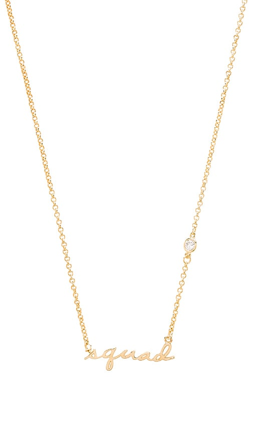 Tawnie & Brina Squad Necklace in Gold