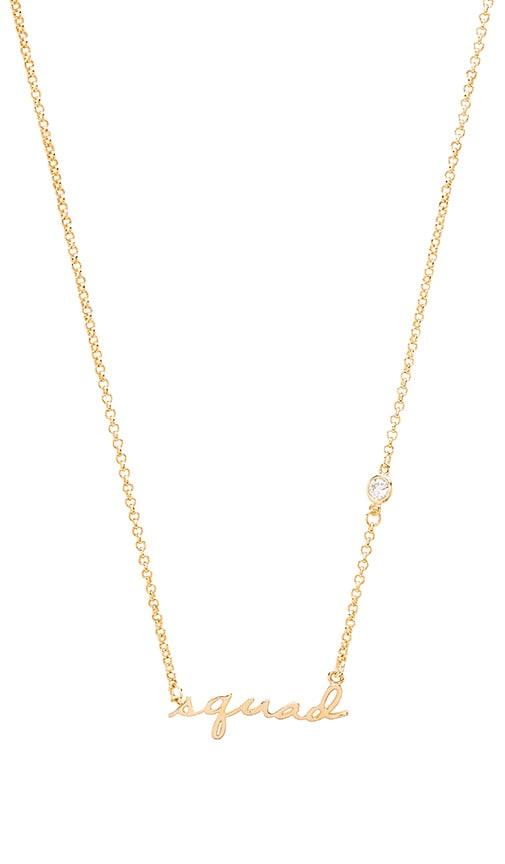 Tawnie & Brina Squad Necklace in Metallic Gold
