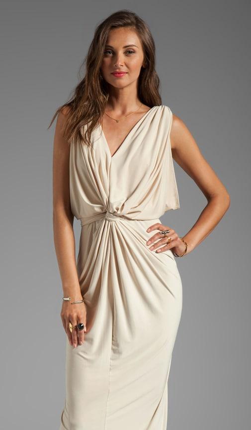 Drape Sleeve Maxi Dress