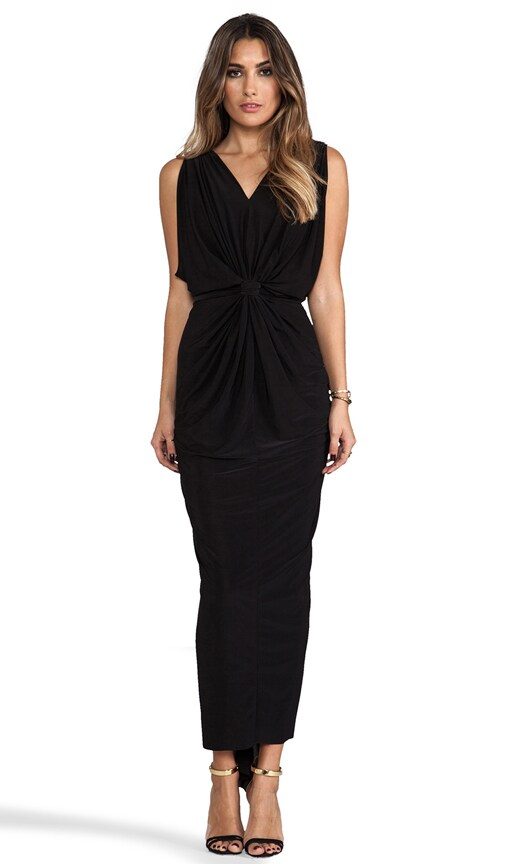 Draped Sleeve Maxi Dress