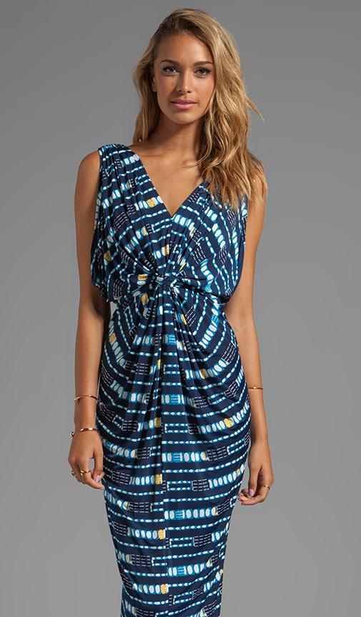 Draped Sleeve Maxi Dress