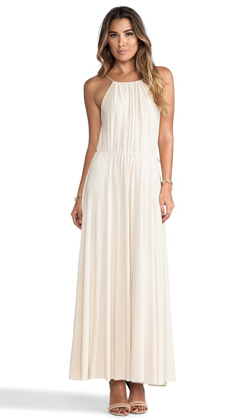 Tank Maxi Dress with Tonal Hem and Trim