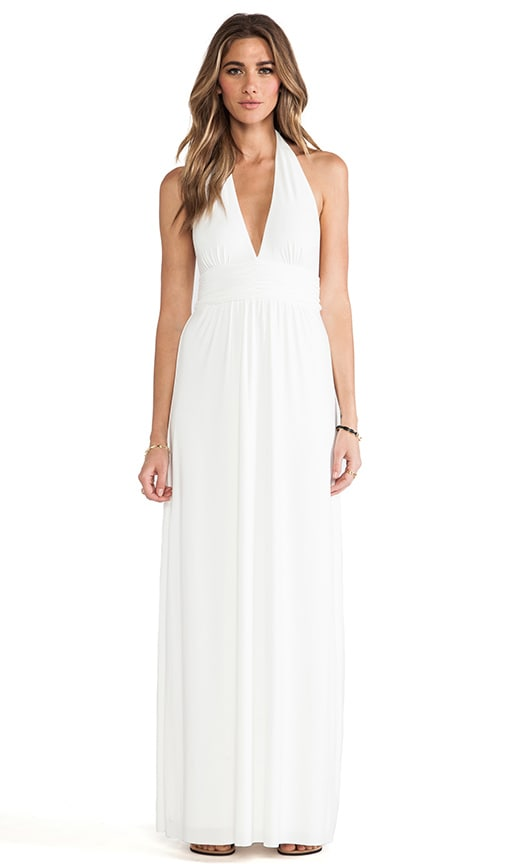 Plunging Halter Maxi Dress