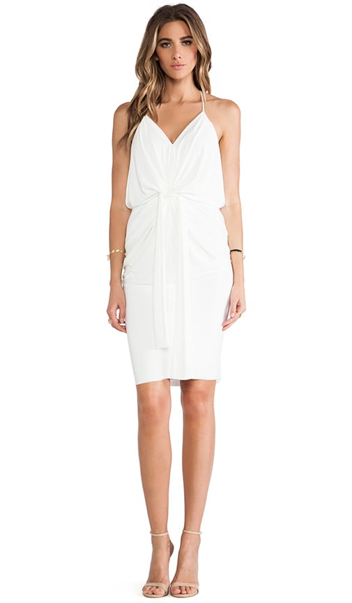 Knot Front Knee Length Dress