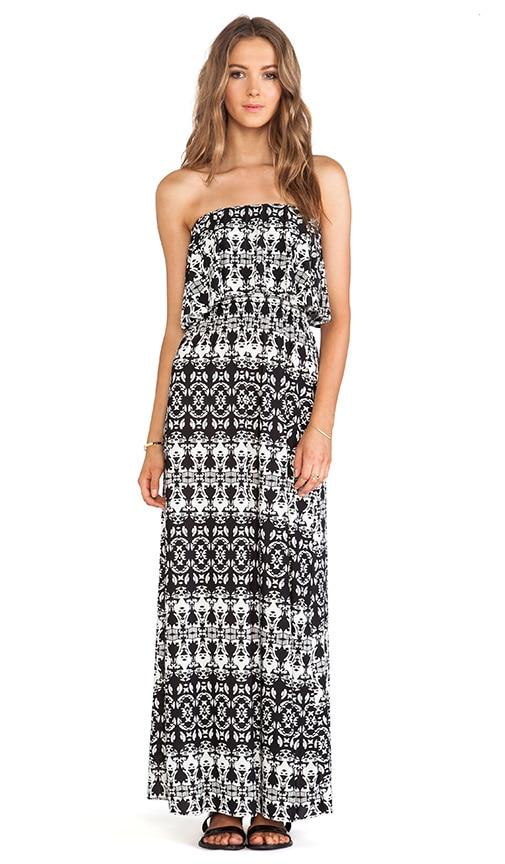 Strapless Tiered Maxi Dress