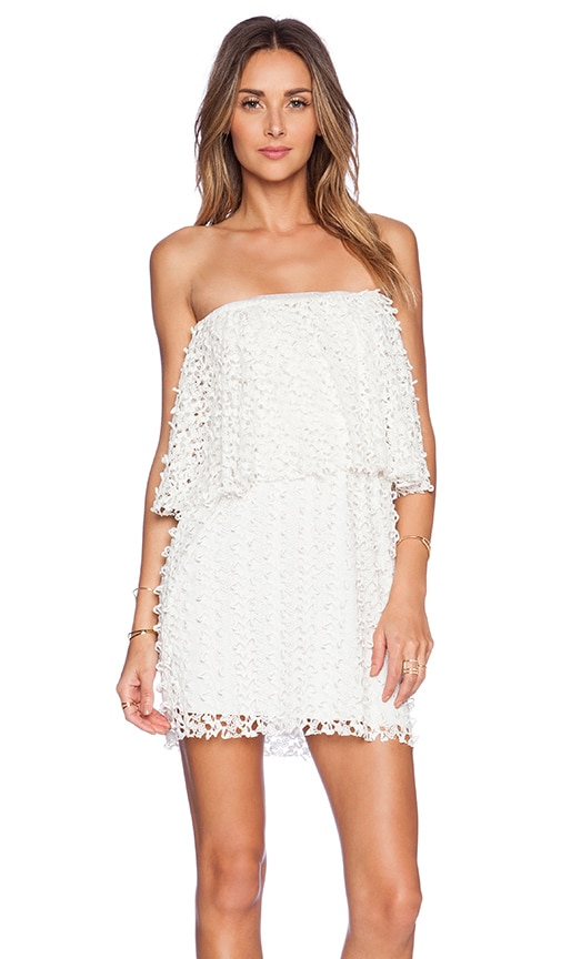 T-Bags LosAngeles Crochet Lace Dress in Ivory