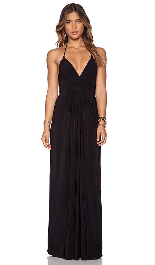 T-Bags LosAngeles X Back Maxi Dress in Black