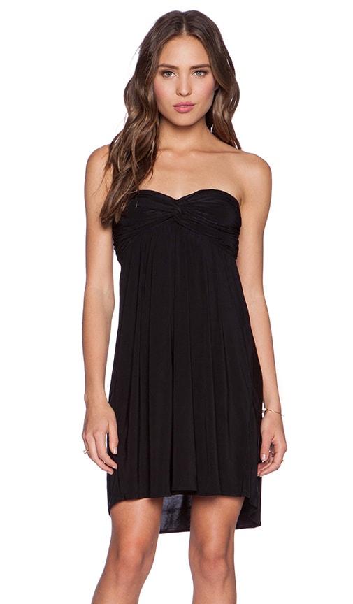 T-Bags LosAngeles Braided Back Dress in Black