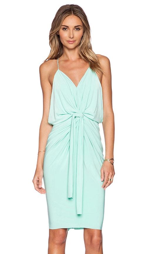 T-Bags LosAngeles Domino Tie Front Mini Dress in Mint
