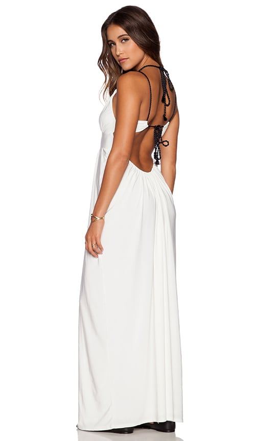 T-Bags LosAngeles Tie Back Maxi Dress in White