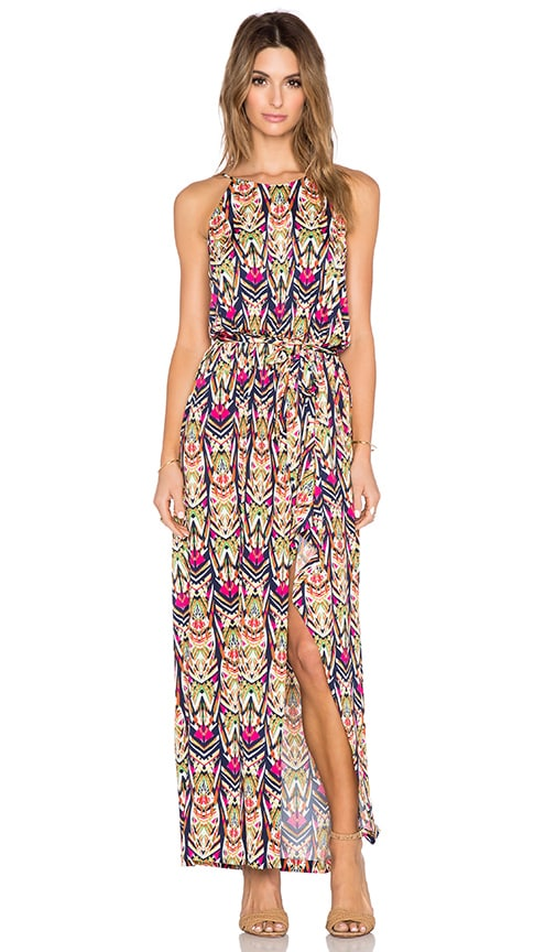 T-Bags LosAngeles Halter Maxi Dress in Prism Print