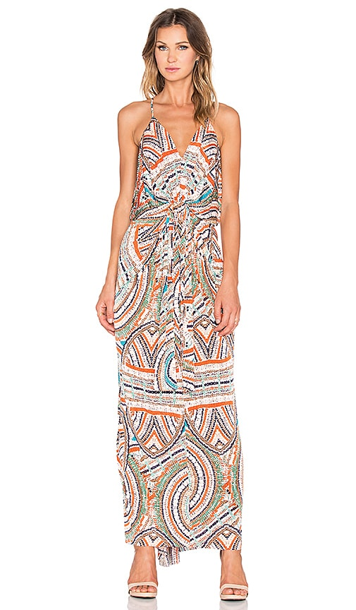 T-Bags LosAngeles Twist Front Maxi Dress in Navy Marble
