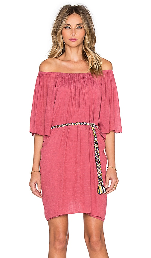 T-Bags LosAngeles 3/4 Sleeve Off Shoulder Mini Dress in Mauve