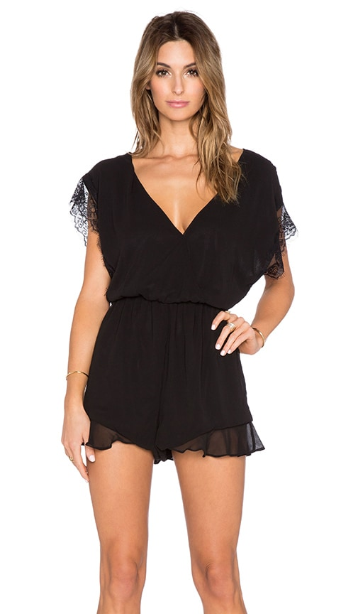 V Neck Lace Romper