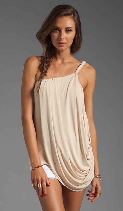 One Shoulder Drape Tank