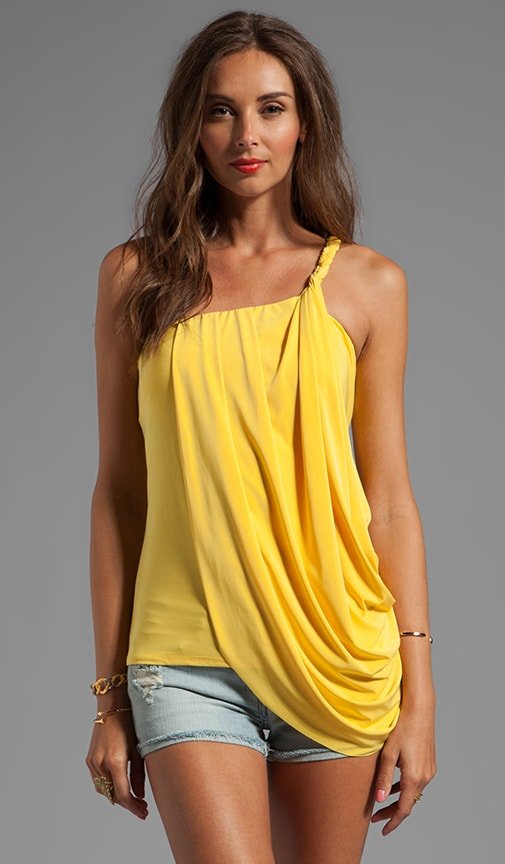 One Shoulder Side Drape Tank