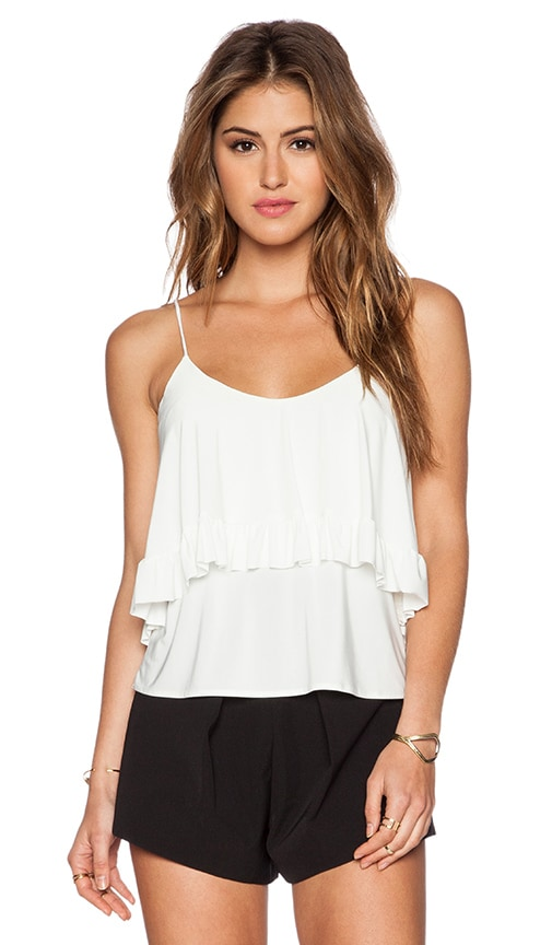 T-Bags LosAngeles Flounce Tank in White