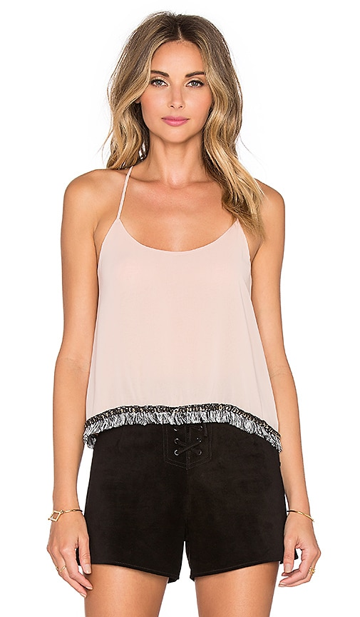 T-Bags LosAngeles Scoop Neck Tank in Dusty Rose