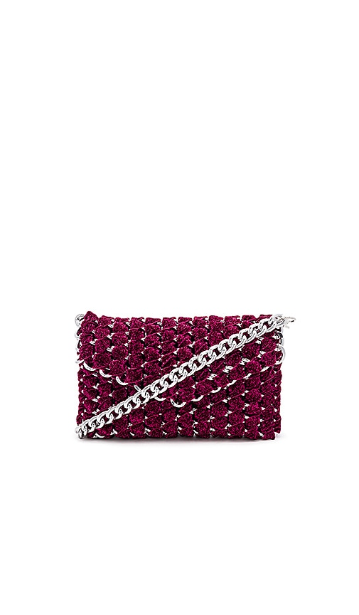 Eve Shimmer Clutch with Silver Chain