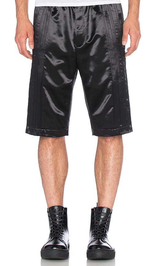 T by Alexander Wang Tuxedo Tear Away Short in Black
