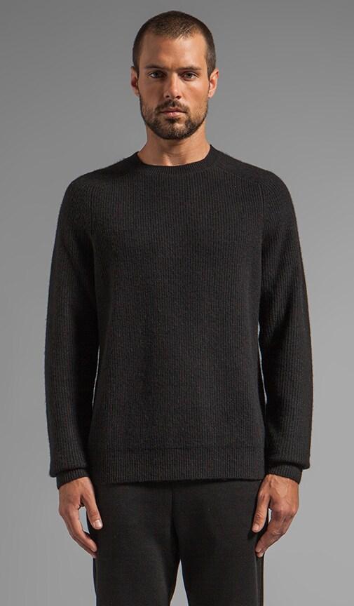 Half Cardigan Crewneck Pullover