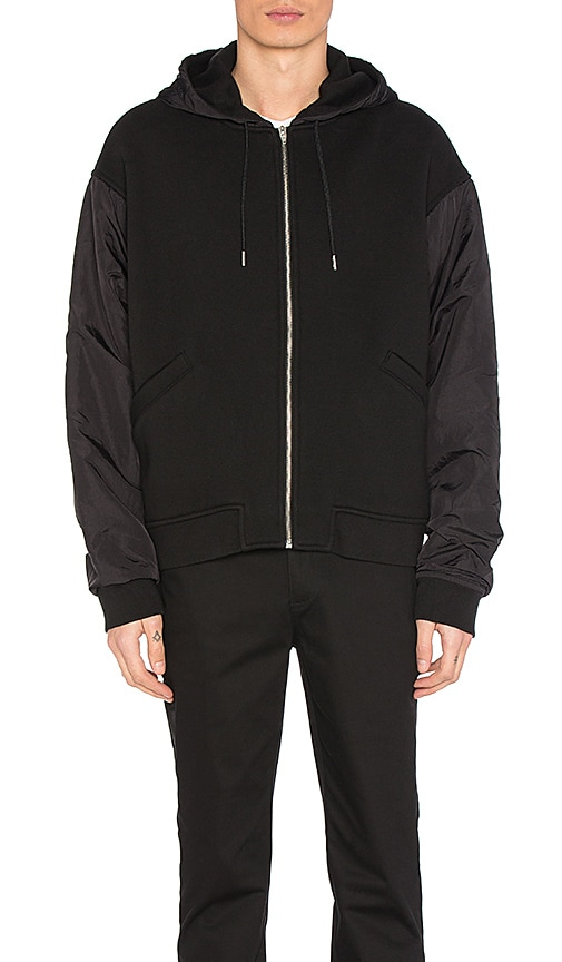 T by Alexander Wang Nylon Combo Jacket in Black