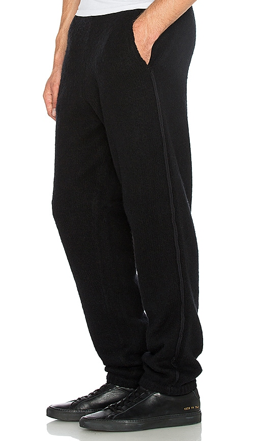 T by Alexander Wang Boiled Wool Sweatpants in Black