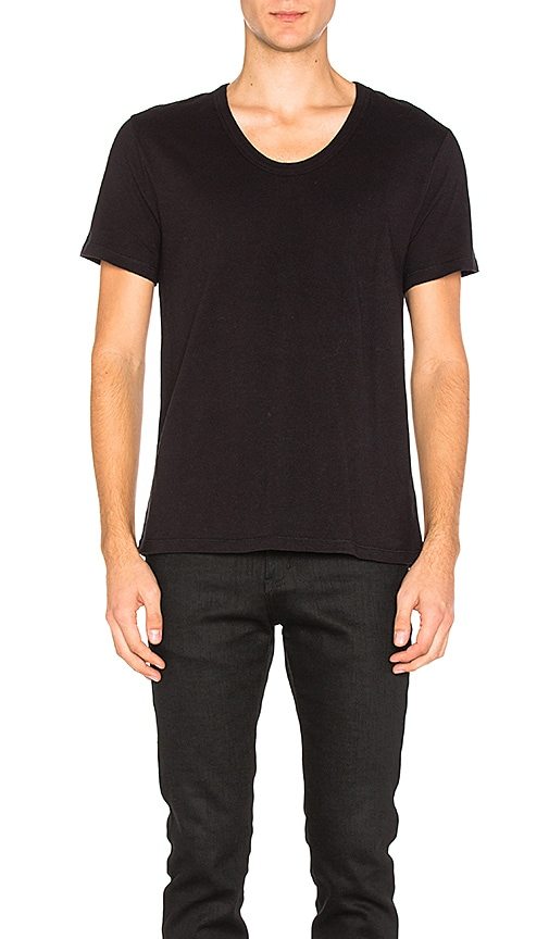 Pima Cotton Low Neck Tee