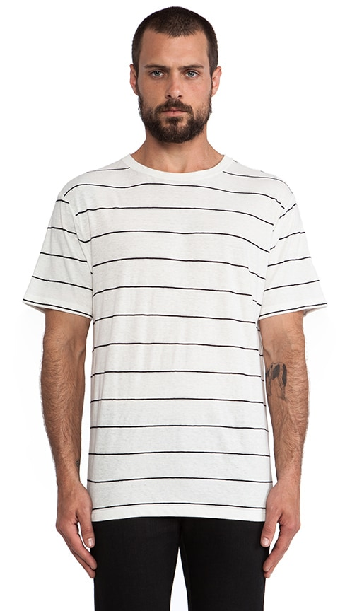 Linen Stripe Short Sleeve Tee