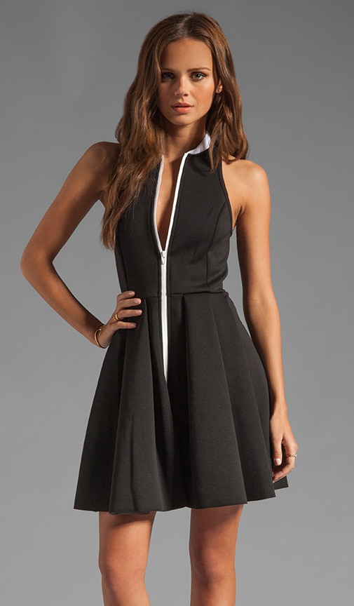 Neoprene Rib Collared Tank Dress