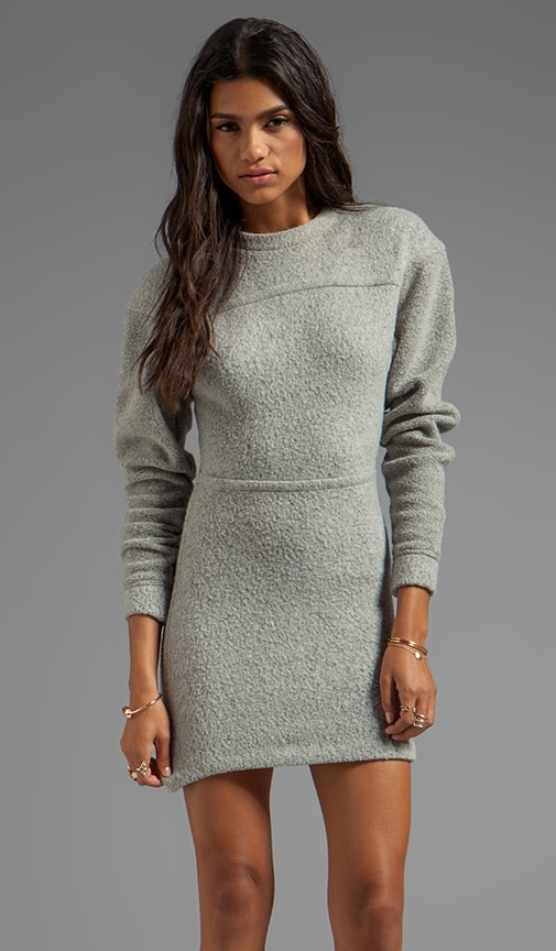 Brushed Wool Sweatshirt Dress