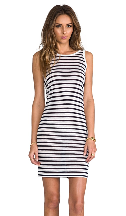 Stripe Linen Tank Dress