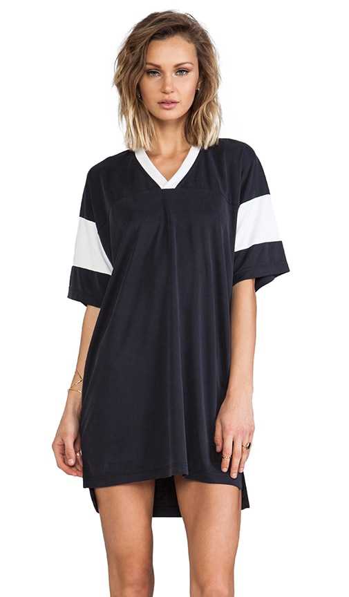 Sandwashed Double Knit Football Tee Dress