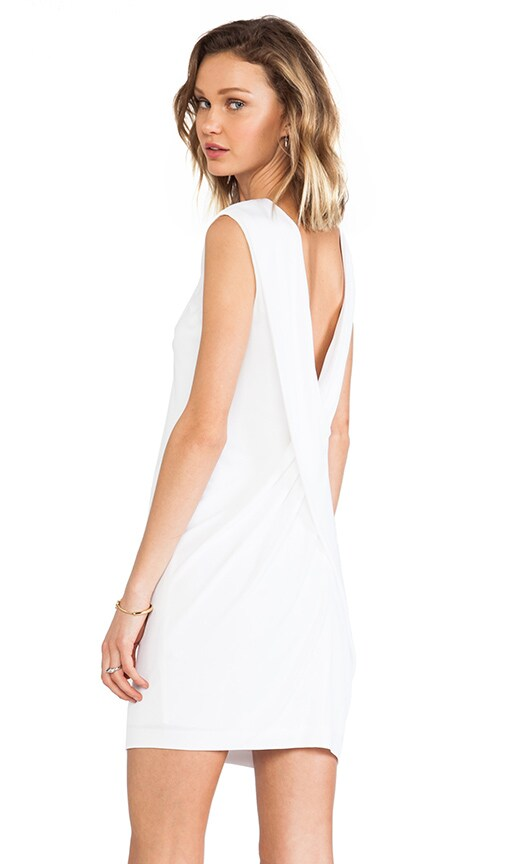 Matte Jersey Cross Drape Back Dress