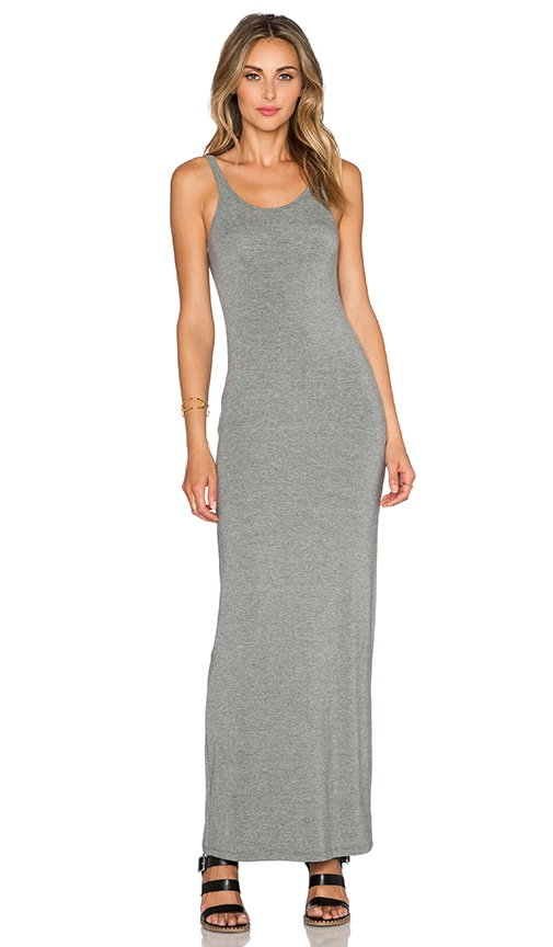 T by Alexander Wang Long Tank Dress in Gray