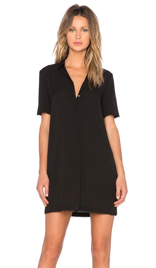 T by Alexander Wang Shirt Dress in Black