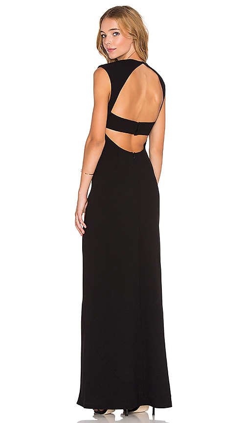T by Alexander Wang Exposed Back Maxi Dress in Black