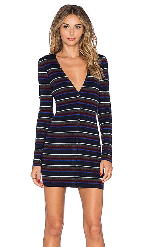 T by Alexander Wang Fitted Cardigan in Cobalt
