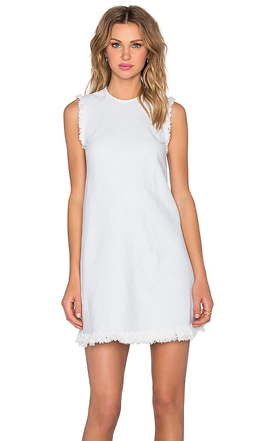 T by Alexander Wang Frayed Burlap Shift Dress in Blue