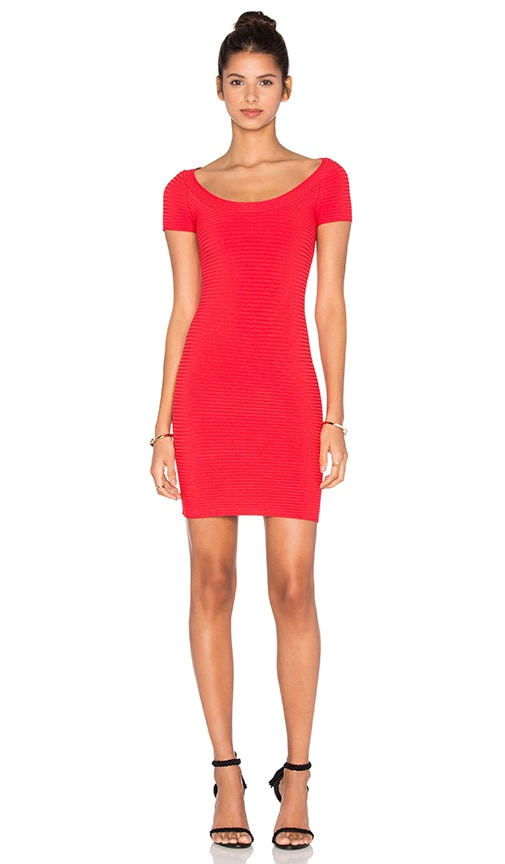 T by Alexander Wang Rib Knit Dress in Red