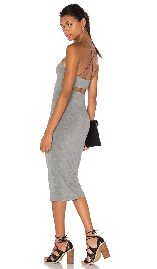 T by Alexander Wang Strappy Cami Tank Dress in Heather Grey